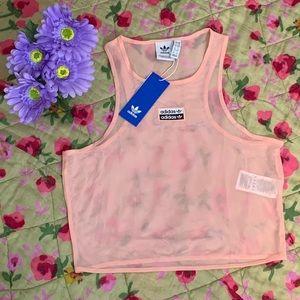adidas RYV mesh trace pink tank top